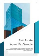 Bi Fold Real Estate Agent Bio Sample Document Report PDF PPT Template One Pager