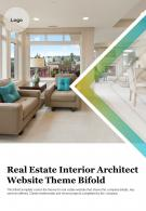 Bi Fold Real Estate Interior Architect Website Theme Document Report PDF PPT Template One Pager
