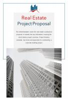 Bi Fold Real Estate Project Proposal Document Report PDF PPT Template One Pager