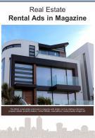 Bi Fold Real Estate Rental Ads In Magazine Document Report PDF PPT Template