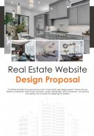 Bi Fold Real Estate Website Design Proposal Document Report PDF PPT Template One Pager