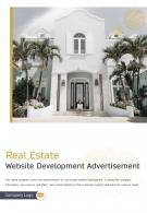 Bi Fold Real Estate Website Development Advertising Document Report PDF PPT Template One Pager