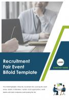 Bi Fold Recruitment Fair Event Document Report PDF PPT Template