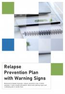 Bi Fold Relapse Prevention Plan With Warning Signs Document Report PDF PPT Template One Pager