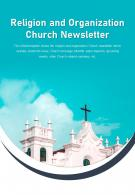 Bi Fold Religion And Organization Church Newsletter Document Report PDF PPT Template One Pager