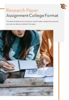 Bi Fold Research Paper Assignment College Format Document Report PDF PPT Template One Pager