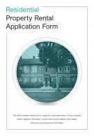 Bi Fold Residential Property Rental Application Form Document Report PDF PPT Template One Pager