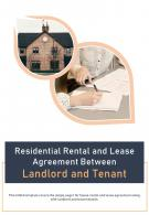 Bi Fold Residential Rental And Lease Agreement Between Landlord And Tenant PDF PPT Template One Pager