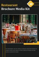 Bi Fold Restaurant Brochure Media Kit Document Report PDF PPT Template One Pager