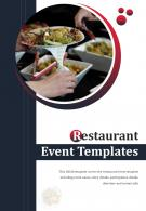 Bi Fold Restaurant Event Templates Document Report PDF PPT One Pager