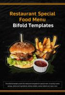 Bi Fold Restaurant Special Food Menu Templates Document Report PDF PPT One Pager