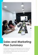 Bi Fold Sales And Marketing Plan Summary Document Report PDF PPT Template One Pager