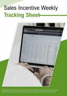 Bi Fold Sales Incentive Weekly Tracking Sheet Document Report PDF PPT Template
