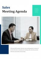 Bi Fold Sales Meeting Agenda Document Report Pdf Ppt Template One Pager