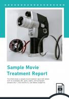 Bi Fold Sample Movie Treatment Report Document PDF PPT Template One Pager