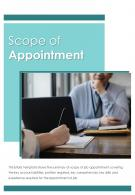 Bi Fold Scope Of Appointment Document Report PDF PPT Template