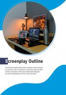 Bi Fold Screenplay Outline Document Report PDF PPT Template One Pager