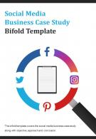 Bi Fold Social Media Business Case Study Template Document Report PDF PPT One Pager