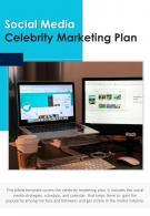 Bi Fold Social Media Celebrity Marketing Plan Document Report PDF PPT Template