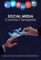Bi Fold Social Media Contract Template Document Report PDF PPT One Pager