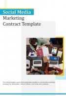 Bi Fold Social Media Marketing Contract Template Document Report PDF PPT One Pager