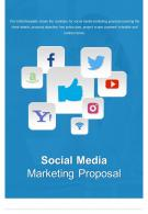 Bi Fold Social Media Marketing Proposal Document Report PDF PPT Template One Pager