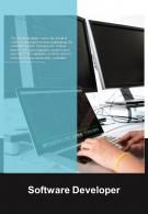 Bi Fold Software Developer Document Report PDF PPT Template