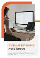 Bi Fold Software Developer Profile Template Document Report PDF PPT One Pager