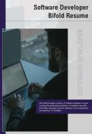 Bi Fold Software Developer Resume Document Report PDF PPT Template