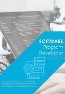 Bi Fold Software Program Developer Document Report PDF PPT Template