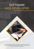 Bi Fold Software Web Developer Document Report PDF PPT Template