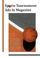 Bi Fold Sports Tournament Ads In Magazine Document Report PDF PPT Template