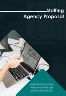 Bi Fold Staffing Agency Proposal Document Report PDF PPT Template