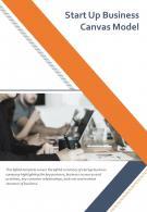 Bi Fold Start Up Business Canvas Model Document Report PDF PPT Template