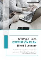 Bi Fold Strategic Sales Execution Plan Summary Document Report PDF PPT Template One Pager