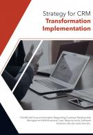 Bi Fold Strategy For CRM Transformation Implementation Document Report PDF PPT Template
