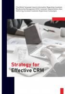 Bi Fold Strategy For Effective CRM Document Report PDF PPT Template