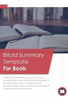 Bi Fold Summary For Book Document Report PDF PPT Template