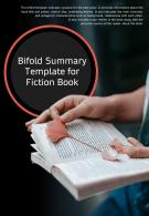 Bi Fold Summary For Fiction Book Document Report PDF PPT Template
