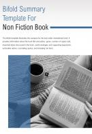 Bi Fold Summary For Non Fiction Book Document Report PDF PPT Template