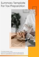 Bi Fold Summary Tax Preparation Document Report PDF PPT Template