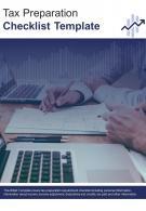 Bi Fold Tax Preparation Checklist Document Report PDF PPT Template