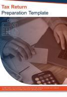 Bi Fold Tax Return Preparation Document Report PDF PPT Template