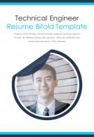 Bi Fold Technical Engineer Resume Template Document Report PDF PPT One Pager