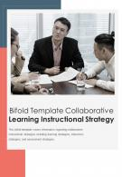 Bi Fold Template Collaborative Learning Instructional Strategy Document Report PDF PPT One Pager