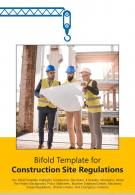 Bi Fold Template For Construction Site Regulations Document Report PDF PPT One Pager