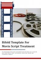 Bi Fold Template For Movie Script Treatment Document Report PDF PPT One Pager
