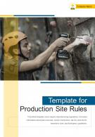 Bi Fold Template For Production Site Rules Document Report PDF PPT One Pager