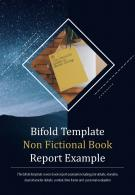 Bi Fold Template Non Fictional Book Report Example Document PDF PPT One Pager