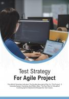 Bi Fold Test Strategy For Agile Project Document Report PDF PPT Template